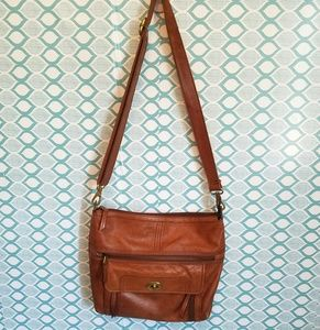 Fossil hobo leather crossbody bag